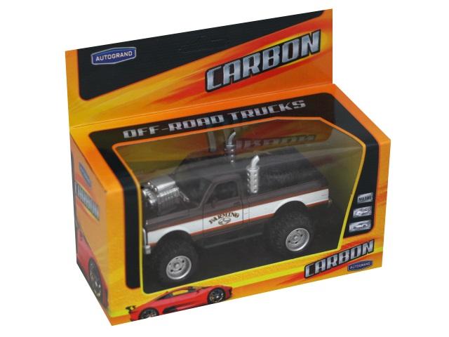 Машина металл Autogrand Carbon Country Pick-Up 12см 75078