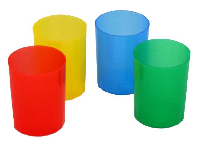Стакан для ручек пластик WM цветной круглый 045000700