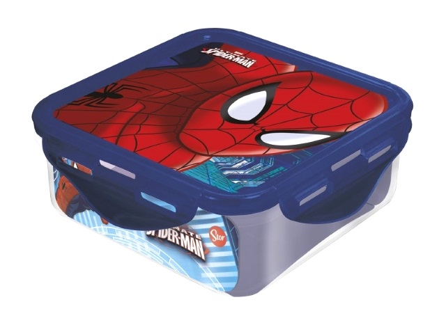 Контейнер пластик 500мл квадратный NDPlay Человек-паук Красная паутина 265026