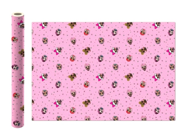 Бумага упаковочная  2 шт. 70*100см NDPlay LOL розовая 280537