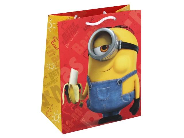 Пакет подарочный бумажный 18*23*10см NDPlay Minions желто-красный 287122