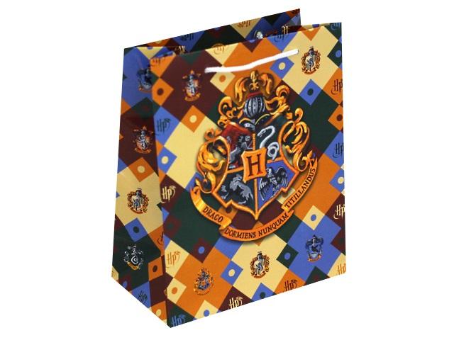 Пакет подарочный бумажный 18*23*10см NDPlay Harry Potter Герб Хогвардса 286221