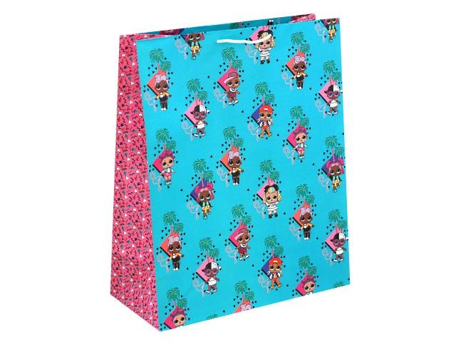 Пакет подарочный бумажный 33.5*40.6*15.5см NDPlay LOL бирюзовый 286622
