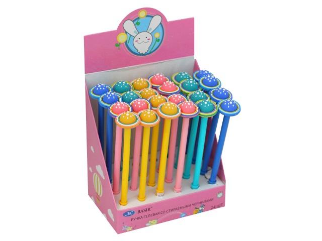 Ручка пиши-стирай Basir Планета гелевая синяя 0.38мм МС-5200