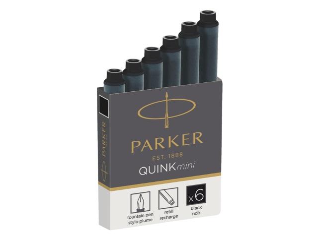 Капсулы  6 шт. Parker Quink mini черные 1950407