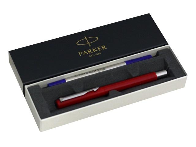 Ручка Parker роллер Vector Standard синяя 0.7мм красный корпус 2025452