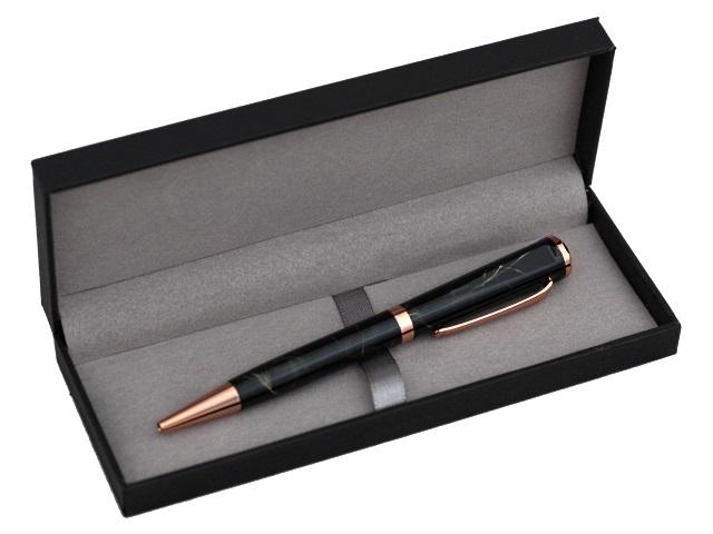 Ручка шариковая поворотная Mazari Storm M-7393-70 металл синяя 0.7мм в футляре