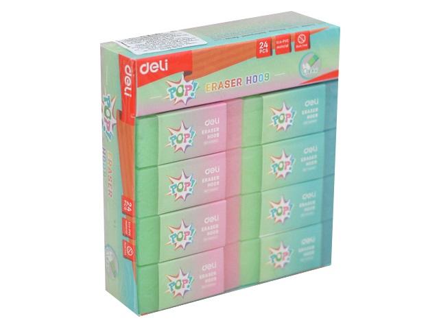 Ластик Deli Pop прямоугольный цветной 46*20*10мм EH00900