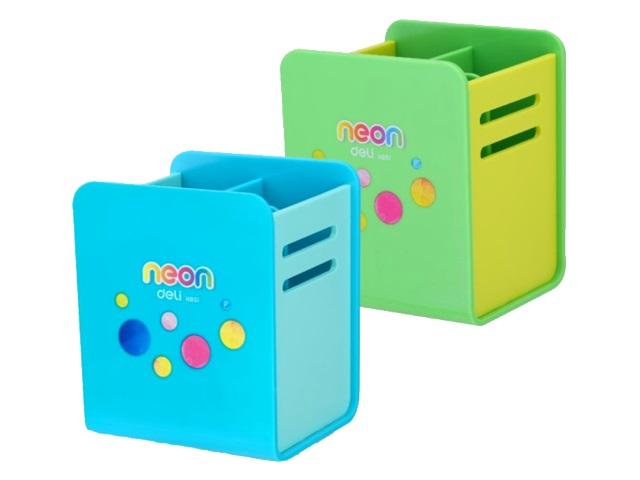 Подставка-органайзер Deli Neon 4 отделения пластик цветная EH85104