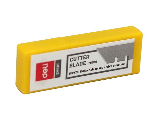 Лезвия к ножу 18 мм 10 шт. Deli Expert E78001