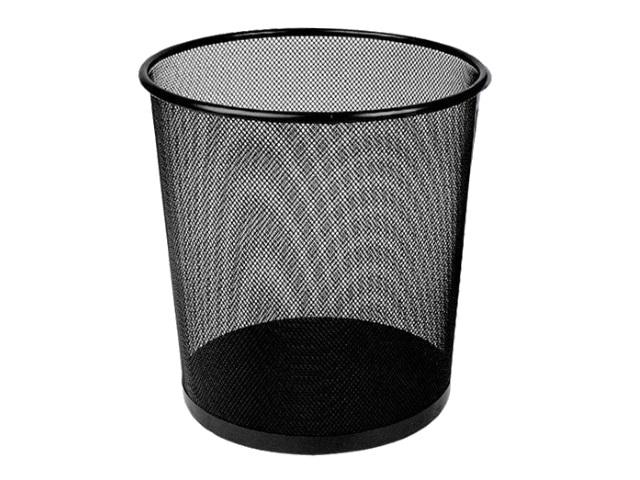 Корзина для бумаг металл сетка круглая 12л черная Deli E9190