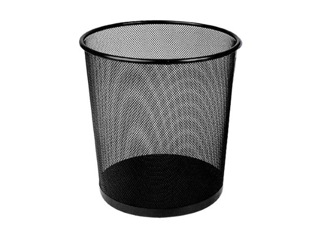 Корзина для бумаг металл сетка круглая 16л черная Deli E9189