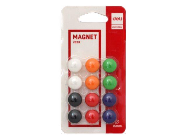 Магнит для досок Deli D=15 мм 12 шт. круглые Е7823