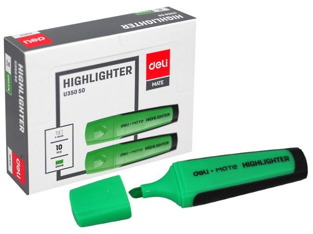 Маркер текстовый Deli Mate зеленый скошенный 1-5мм EU35050