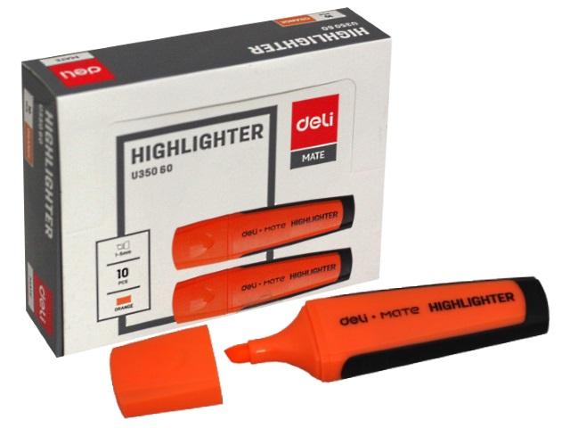 Маркер текстовый Deli Mate оранжевый скошенный 1-5мм EU35060