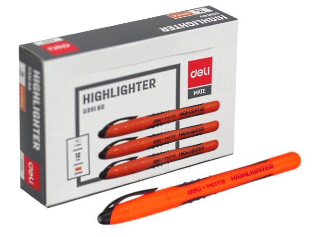 Маркер текстовый Deli Mate оранжевый скошенный 1-5мм EU35160