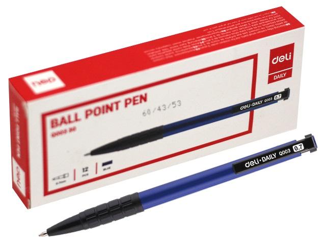 Ручка шариковая автомат Deli Daily синяя 0.7мм EQ00330