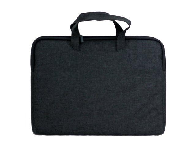 Портфель А4 текстиль Deli 1 отделение с карманом серый 5590grey