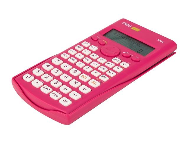 Калькулятор 12-разрядный Deli  8*16см красный E1710A/RED