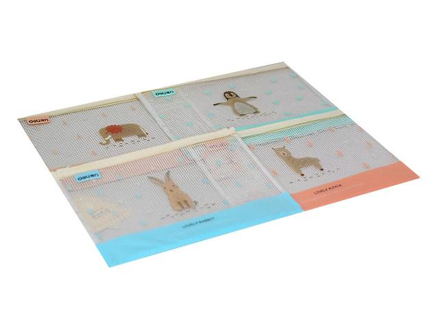Папка на бегунке А5 Deli Cute Animals цветная 5992-02