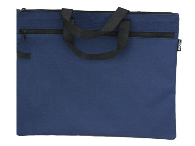 Портфель А4 текстиль Deli Extend 1 отделение с карманом синий EB55032