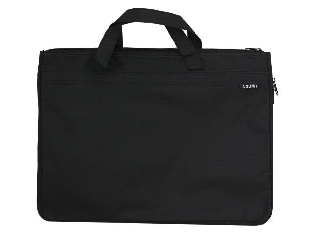Портфель А4 текстиль Deli Extend 1 отделение с карманом черный EB55122