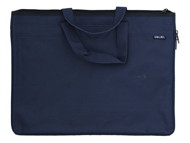 Портфель А4 текстиль Deli Extend 2 отделения синий EB55132
