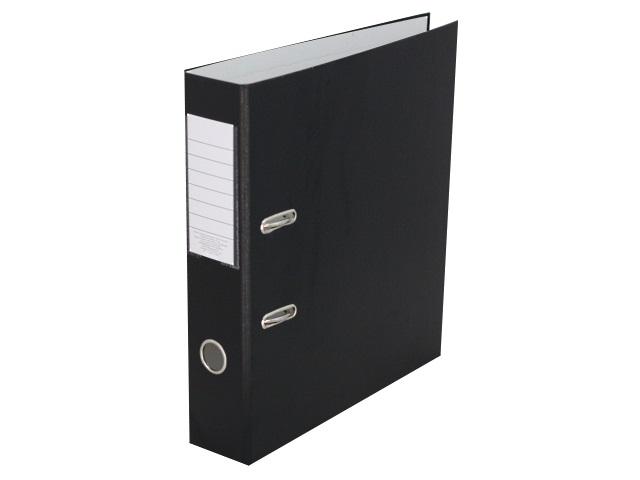 Регистратор  А4/75 ЭКО черный с металлической окантовкой 1029148