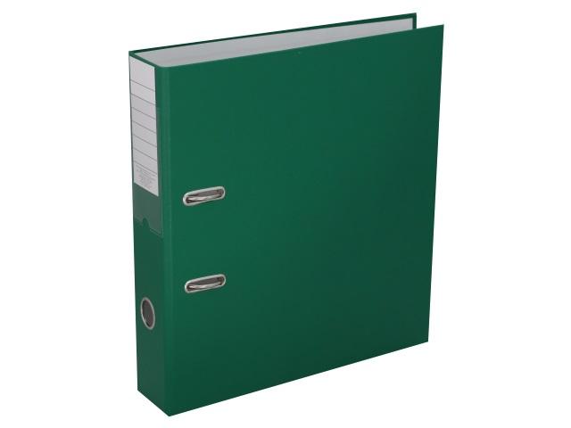 Регистратор  А4/75 Банко ЭКО зеленый с металлической окантовкой 1029151