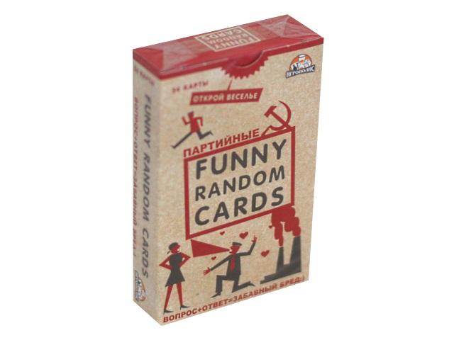 Настольная карточная игра Игрополис Funny Random Cards Партийные 54 карты ИН-0189