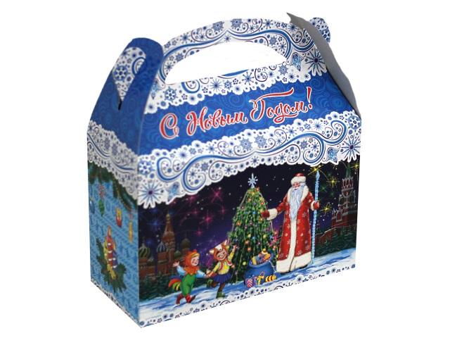 Коробка для конфет Ларчик Зимний день 1000г Miland КК-1575