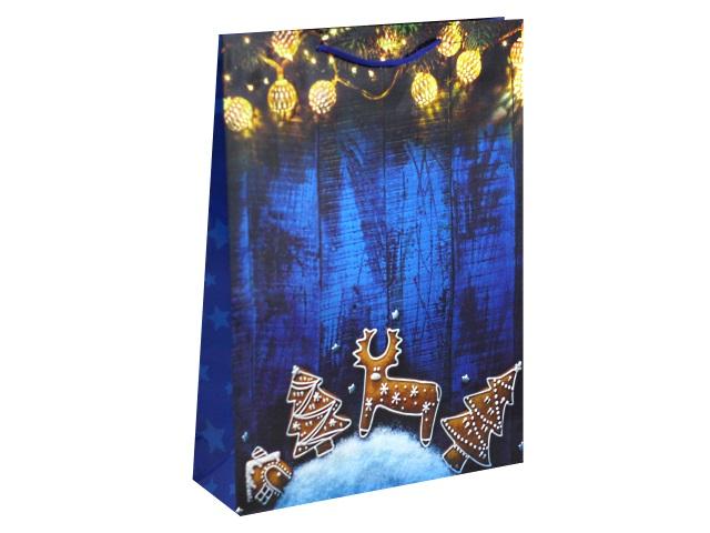 Пакет подарочный бумажный 32.4*44.5*10см Miland Новогодние пряники 157г ПКП-8892