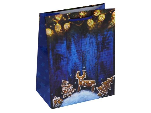 Пакет подарочный бумажный 18*23*10см Новогодние пряники ПКП-8859