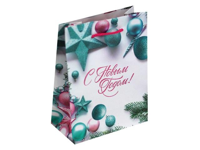 Пакет подарочный бумажный 11.5*14.5*6см Радостного Нового года! Miland ПКП-8849