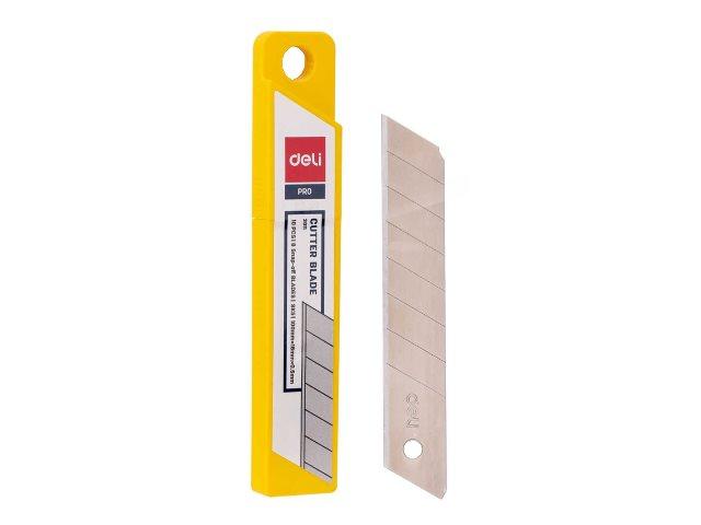 Лезвия к ножу 18 мм 10 шт. Deli Expert E2011