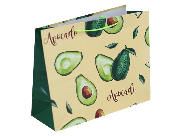 Пакет подарочный бумажный 26*32*12см Плоды авокадо Miland ПКП-1839