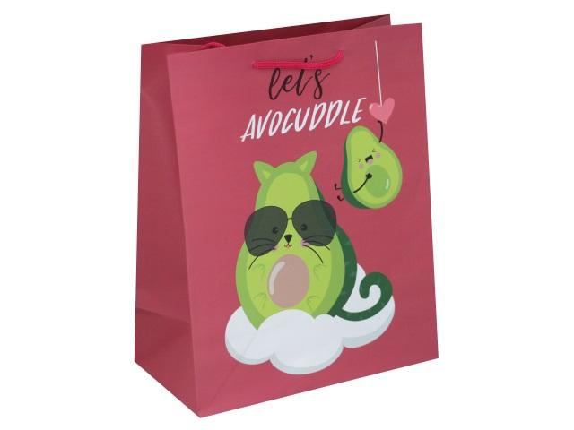 Пакет подарочный бумажный 26.4*32.7*13.6см Милый авокадо Miland ППД-9854