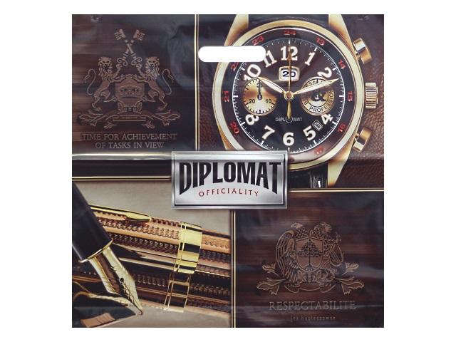 Пакет с прорезной ручкой 44*44см Дипломат Miland СП-1751