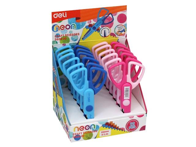 Ножницы детские 13.5 см Deli Neon пластиковые ручки ED60000