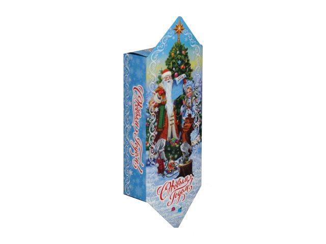 Коробка для конфет Конфета Дед Мороз и зверята 700г Miland КК-1664