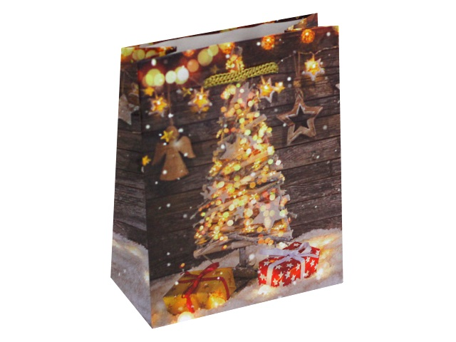 Пакет подарочный бумажный 11.5*14.5*6см Miland Елочка с подарками ПКП-8635