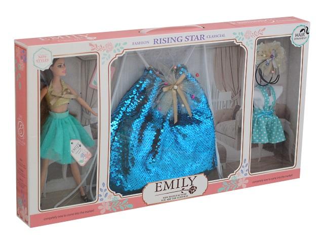 Кукла Emily Rising Star 28см с сумкой 77008