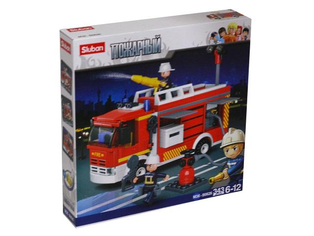 Конструктор  343 детали Sluban Пожарная машина M38-B0626