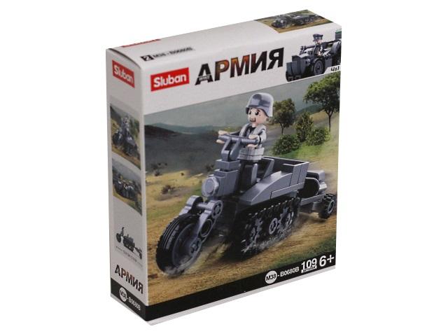 Конструктор  109 деталей Sluban Армия Мотоцикл M38-B0680B