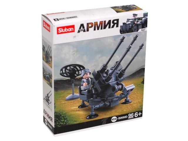 Конструктор   96 деталей Sluban Армия Пулемет M38-B0680D