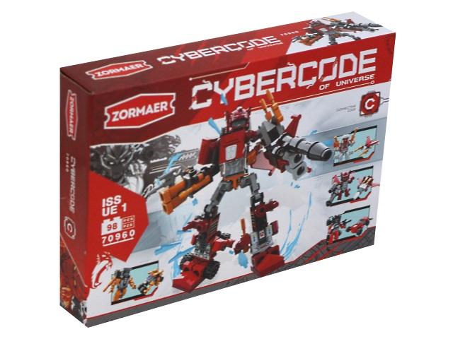 Конструктор  98 деталей Zormaer Cybercode Боец 70960