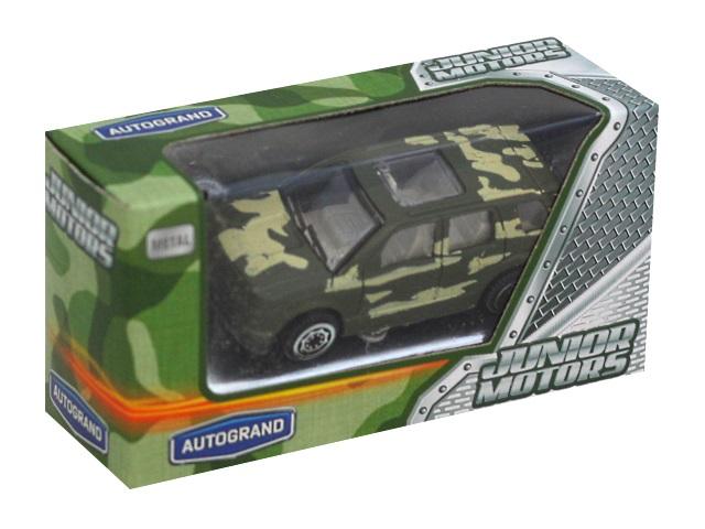 Машина металл Autogrand Junior Motors 7см Military Forest Allroad 48898