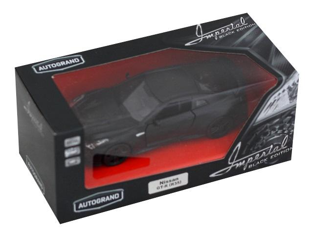 Машина металл Autogrand Imperial Black Edition Nissan GT-R 12см 49938