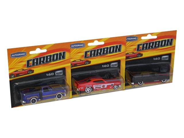 Машина металл Autogrand Carbon Lowrider Power 7см ассорти 71728