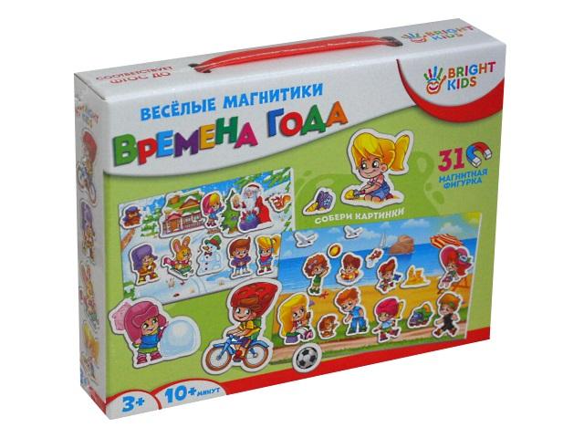 Игра развивающая Bright Kids Весёлые магнитики Времена года ИН-7611